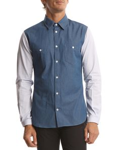 #Carven Shirt Contrast Sleeves