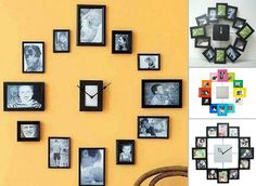DIY clock and picture frame collection
