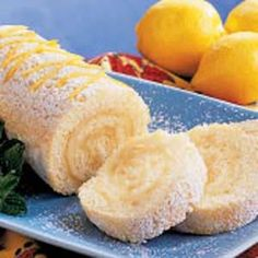 Lemon cake roll. Think I could make a gluten free version with a gf angel food cake