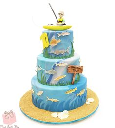Looking for the perfect cake for the fishing enthusiast? Over the years we've created birthday cakes themed for fisherman that can be customized to match the theme and personal tastes of the celebrant.