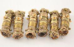 Fibre perle tissu Antique or vert brodé de par NellsEmbroidery