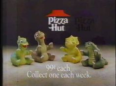 Pizza Hut ran a promotion selling 99-cents finger puppets of all the characters.