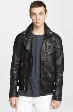 BLK DNM 'Leather Jacket 31' Leather Moto Jacket available at #Nordstrom