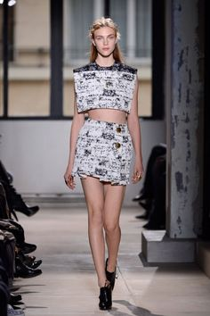 #Trend: Crop Top, Balenciaga.    View the full Spring Fashion 2013 Guide here: http://www.fashionmagazine.com/blogs/spring-fashion-2013/