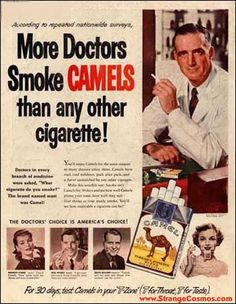 The doctor's choice is America's choice! Crazy vintage advertising.