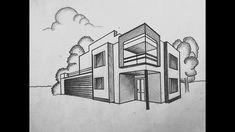 architecture house drawing perspective How to draw a building in 2 point perspective Interior Architecture Drawing, Architecture Drawing Sketchbooks, Architecture Concept Drawings, Plans Architecture, Interior Design Sketches, Architecture Design, Drawing Interior, Ancient Greek Architecture, Perspective Building Drawing