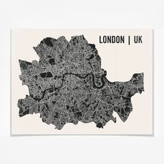 London Map Print 24x18, $19, now featured on Fab.