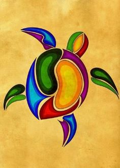 Turtle Art Print by Aleksandra Mikolajczak - X-Small Kunst Der Aborigines, Sea Turtle Art, Sea Turtles, Turtle Painting, Aboriginal Art, Native Art, Rock Art, Art Lessons, Painted Rocks