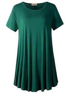 46685722ba9 960 - LARACE Women Short Sleeves Flare Tunic Tops for Leggings Flowy Shirt  (3X