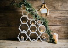 Geometric Dessert Table For Wedding - Stylish Winter Wedding Inspiration With Firs Foliage & A Muted Colour Palette Styling by Blue Wren Barn Images by John Barwood Photography Winter Wonderland Wedding Theme, Winter Theme, 2017 Wedding Trends, Winter Wedding Receptions, Wedding Decorations On A Budget, Simple Centerpieces, Geometric Wedding, Winter Wedding Inspiration, Wedding Catering