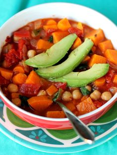 Summer chickpea soup by ambitiouskitchen.com