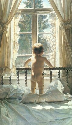 Paintings were done by Steve Hanks. He's known as one of the most talented watercolor artists working today.