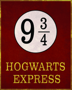 Free! Platform 9 3/4 printable download