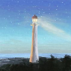 "27 Likes, 2 Comments - Abraham's Art (@abrahammast.art) on Instagram: ""Day 142 - ""Lighthouse"" - 30 minute painting • • • #lighthouse #nights #art #dailyart #artwork #art…"""