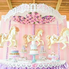 163 Best Carousel Party Ideas Images Carousel Party Unicorn Party