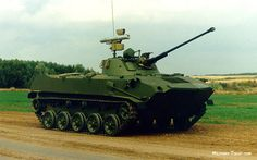 "The BMD-2 is a Soviet airborne infantry fighting vehicle, introduced in 1985. It is a variant of BMD-1 with a new turret and some changes done to the hull. BMD stands for Boyevaya Mashina Desanta (Боевая Машина Десанта, literally ""Airborne Combat Vehicle""). It was developed as a replacement of BMD-1 but it failed to replace it completely because of a downfall of Soviet economy in 1980s. NATO gave it the designation BMD M1981/1"