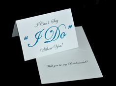 Will You Be My Bridesmaid or Maid or Matron of Honor Card. $3.50, via Etsy.