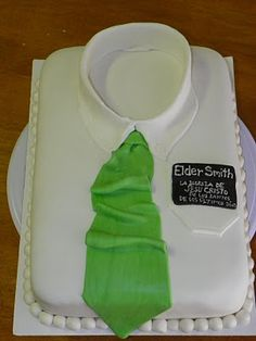 Missionary Cake- I like ours with the suit on it better, but this is another fun idea.