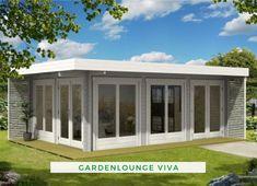 660 cm x 472 cm Gartenhaus Viva Fulton Homes, Tub Enclosures, Backyard Storage, Roof Extension, Backyard Retreat, Garden Office, Garden Buildings, Tiny Spaces, Outdoor Living