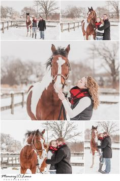 Give me all the snow and fun, adventurous couples who don't mind the cold for some gorgeous winter photos! Especially when your animal tags along for your photo shoot! Check out Art, this gorgeous Horse! Horse Senior Pictures, Pictures With Horses, Horse Photos, Senior Pics, Shooting Couple, Shooting Photo, Horse Engagement Photos, Engagement Session, Equine Photography