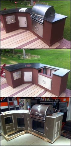 Learn How To Build An Outdoor Kitchen For Your Backyard  http://diyprojects.ideas2live4.com/2014/10/09/diy-outdoor-kitchen/  Love cooking but always miss entertaining and spending quality time with your friends and family because you're so busy in the kitchen?  Then what you need is an outdoor kitchen setup, so that you can join them without having to leave the activity you love the most.