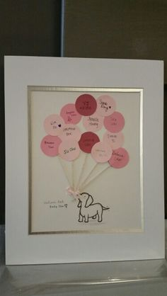 Pink Puppy baby shower guestbook