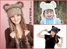 Fashion Crochet Design By Ira Rott: Dream Cloud Teddy Bear - Kitty Hat - Crochet PDF Pattern