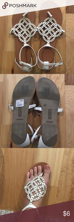 Sandal Worn one time. Size 8 but I am a normal size 8.5-9 and they fit me! Cato Shoes Sandals