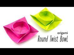 Twisted Round Origami Box / Bowl Tutorial - Paper Kawaii #OrigamiLife