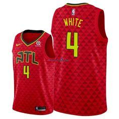 21d01c0364dec El Nuevo Maillot NBA Nike Atlanta Hawks NO.4 Andrew White Rouge Statement  2018