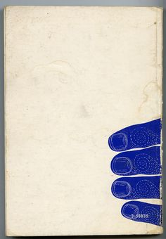 Love the use of negative space on this vintage book cover. Via Serena