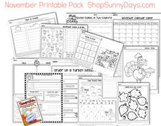 Lots of November activities - add some holiday fun without losing your academic focus.