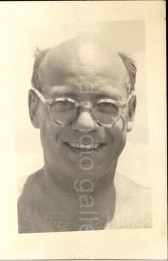 Balding Smiling Man Wearing Glasses Vintage by foundphotogallery
