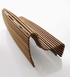 Teak Bench With Back TITIKAKA By B