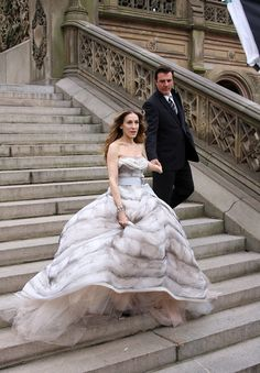 There's No Such Thing as Too Extravagant / Sarah Jessica Parker and Chris North for Vogue US July 2008 by Annie Leibovitz