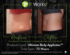 Tighten, tone and firm your skin anywhere with that #CrazyWrapThing ! Message me or email me AliciaFellows.myitworks.com