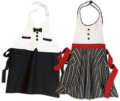 I have actually considered making my man a tuxedo apron...