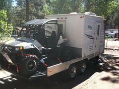 Toy Hauler Trailers, Camping Trailers, Off Road Camping, Utility Trailer, Custom Cars, Campers, Caravan, Rat, Offroad