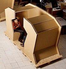 Cardboard Office Desk Design & Other Creative Cardboard Furniture
