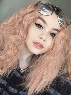 Candyfloss Synthetic lace front wig – My CMS Curly Lace Front Wigs, Synthetic Lace Front Wigs, Synthetic Wigs, Hair Front, Front Lace, Bb Beauty, Hair Beauty, Pelo Multicolor, Blonde With Pink
