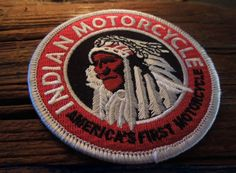 Vintage Small Round Indian motorcycle patch at IronCrowVintage, $9.00