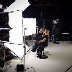 Quite the production for @imnotarobotgirl to be getting her makeup did by @thekatvond. [November 22nd, 2014] Kat von D