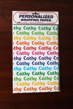 Cathy Gift Wrap Wrapping Paper for Birthday Gifts by LifesAYoyo
