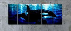 Abstract metal wall art painting killer whale Orca scene modern contemporary decor sculpture by Robert Hawk