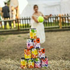 Pin for Later: 36 Brilliant Ideas For the Ultimate Kid-Friendly Wedding Set Up Can Toss