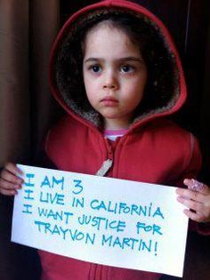 I AM TRAYVON MARTIN..A beautiful teen struck down by a maniac. Me too ~~I run around with a hoodie on all the time like him. Should I be afraid as a white person it even scares me .No ,I will not be afraid. I will wear my hoodie up in his memory of Trayvon. Rest in Peace. God will take care of Zimmerman in due time..
