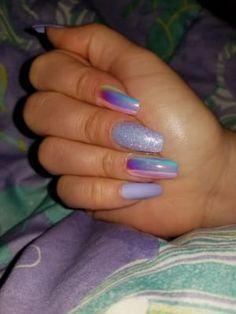 Bright Summer Acrylic Nails, Blue Acrylic Nails, Purple Nails, Nail Design Glitter, Cute Acrylic Nail Designs, Nails Design, Bright Nail Designs, Nail Swag, Cute Spring Nails