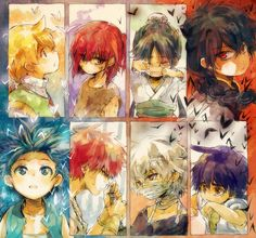 Magi Characters as children (except Aladdin I suppose)