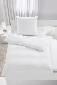 Schlicht und praktisch - Seersucker-Bettwäsche in elegantem Weiß