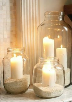 neovia house: DIY Ideas of Glass Jars